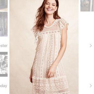 Cream crotchet tunic dress